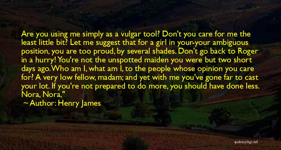 I Don't Care What You Do Quotes By Henry James