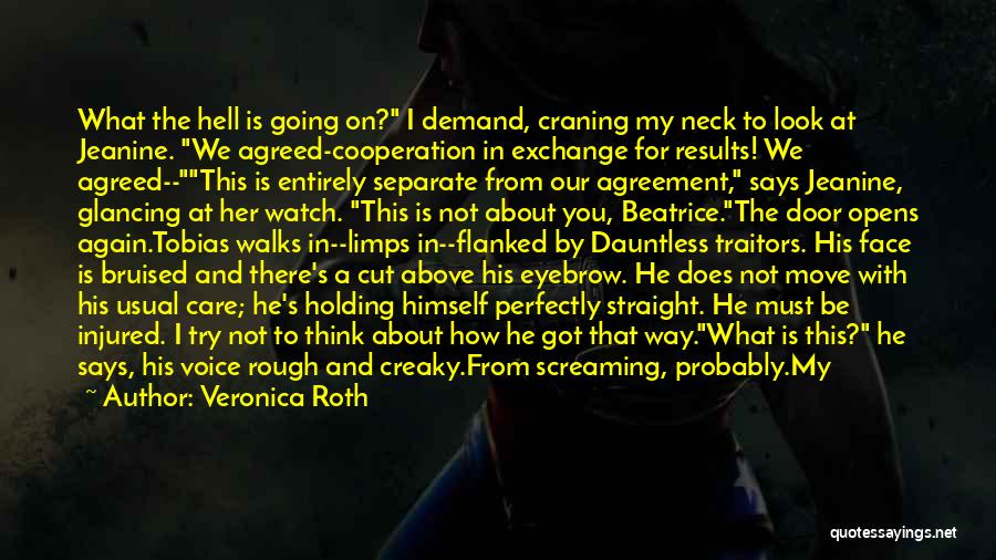 I Don't Care What You Think About Me Quotes By Veronica Roth
