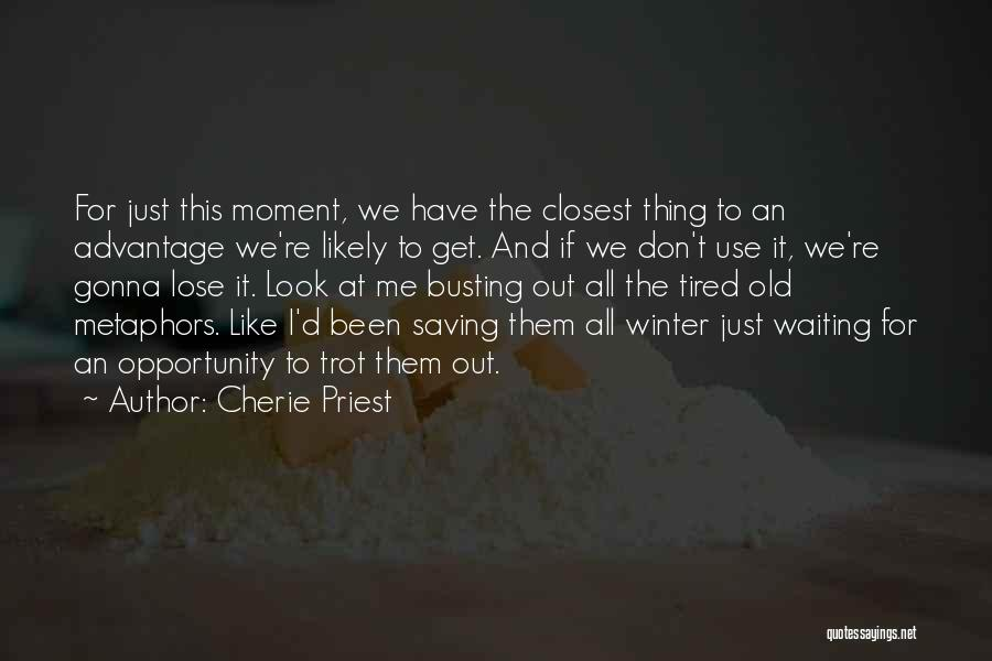 I Don't Like Waiting Quotes By Cherie Priest