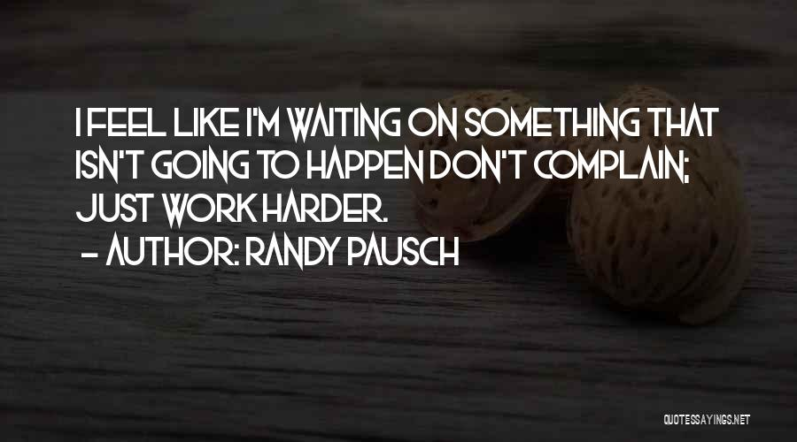 I Don't Like Waiting Quotes By Randy Pausch