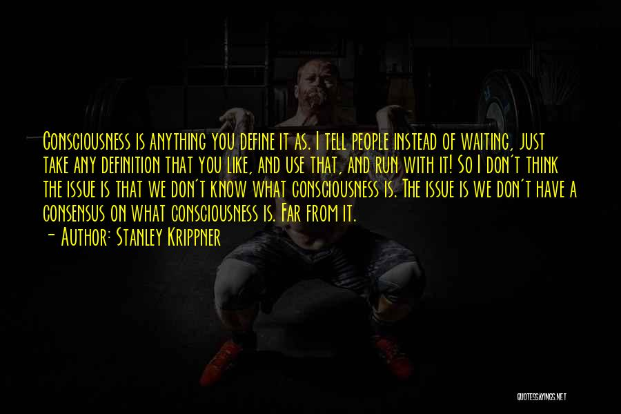 I Don't Like Waiting Quotes By Stanley Krippner