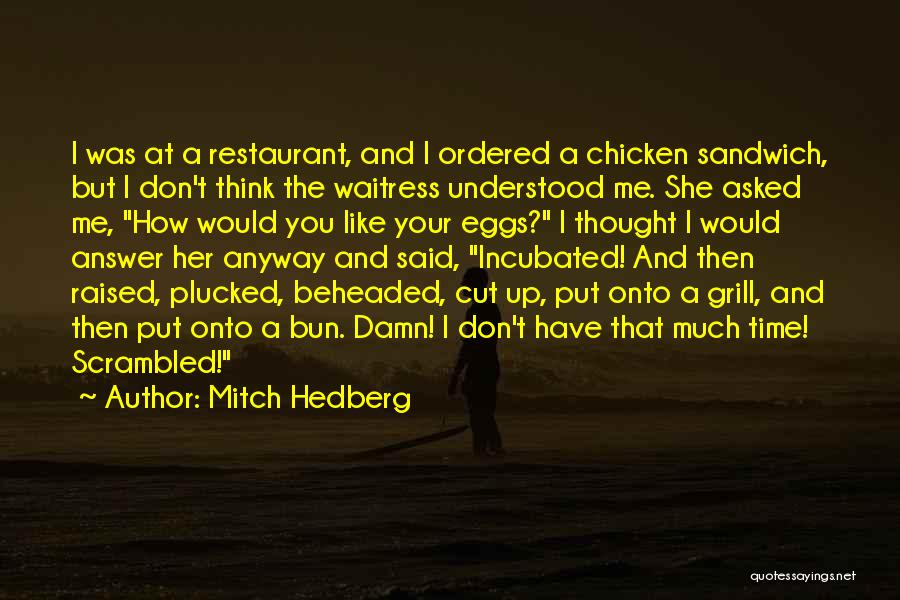 I Don't Like You Funny Quotes By Mitch Hedberg