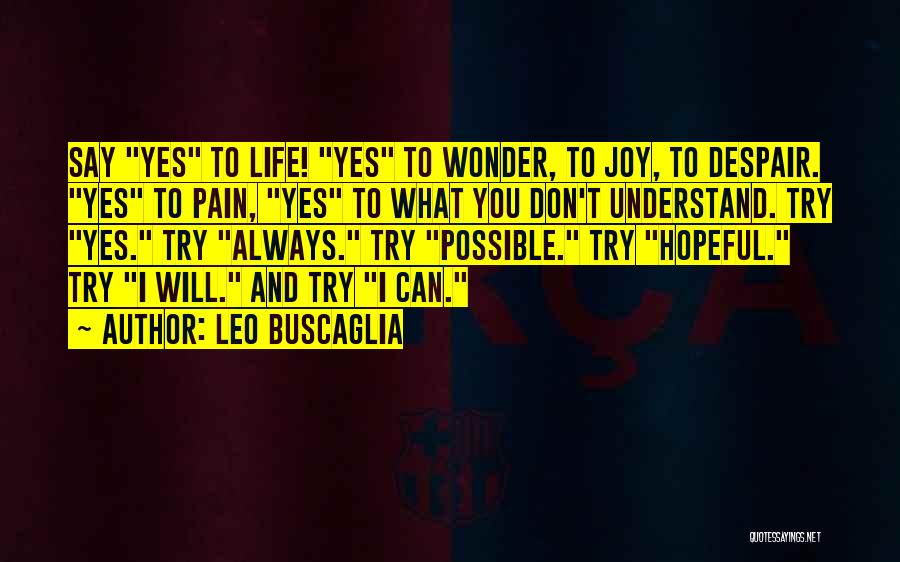 I Don't Understand Life Quotes By Leo Buscaglia