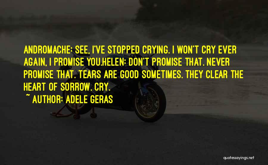 I Don't Want To See You Cry Quotes By Adele Geras