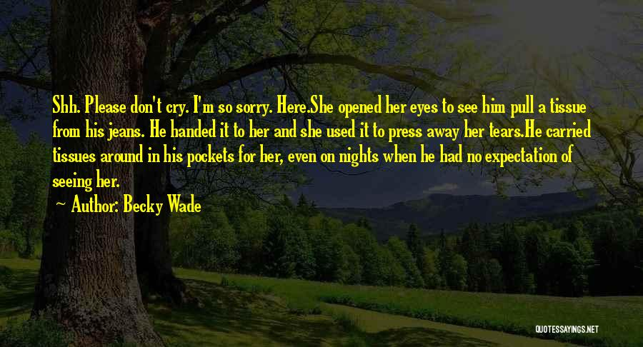 I Don't Want To See You Cry Quotes By Becky Wade