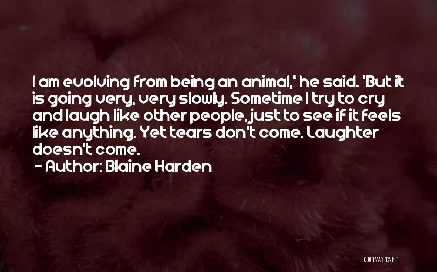 I Don't Want To See You Cry Quotes By Blaine Harden