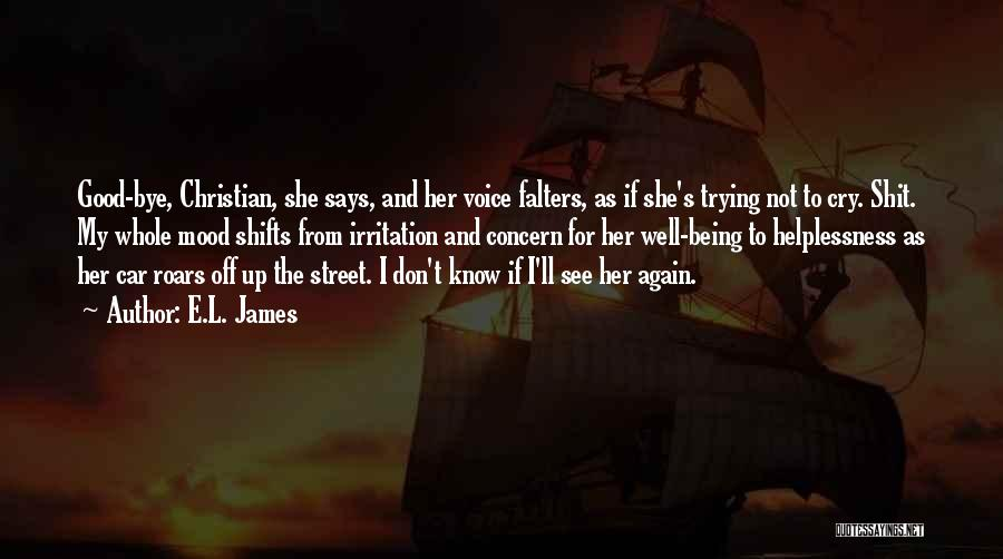I Don't Want To See You Cry Quotes By E.L. James