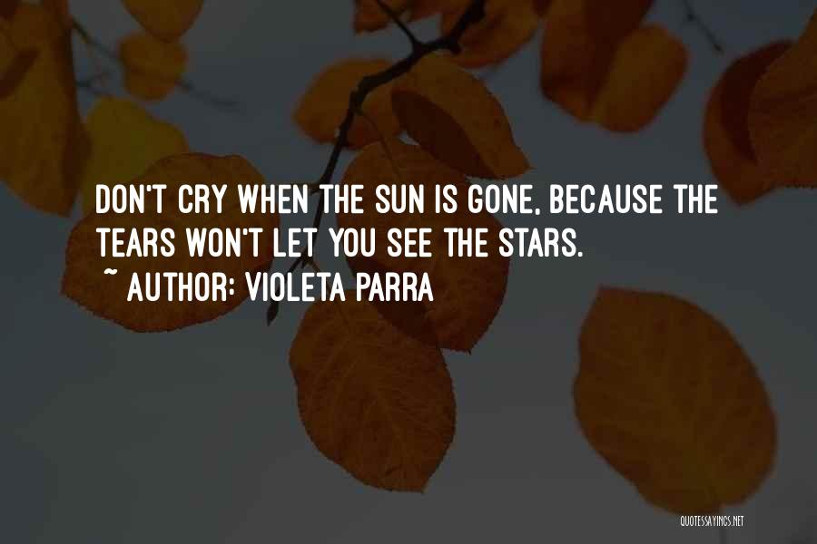 I Don't Want To See You Cry Quotes By Violeta Parra
