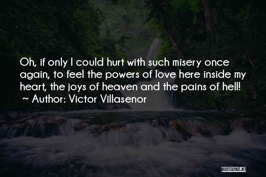 I Feel So Hurt Inside Quotes By Victor Villasenor