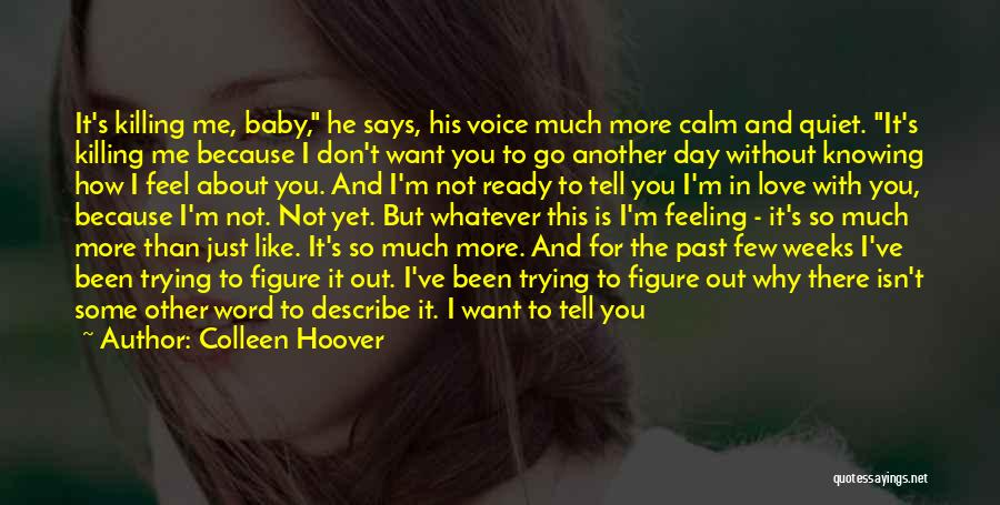 I Feel So In Love With You Quotes By Colleen Hoover