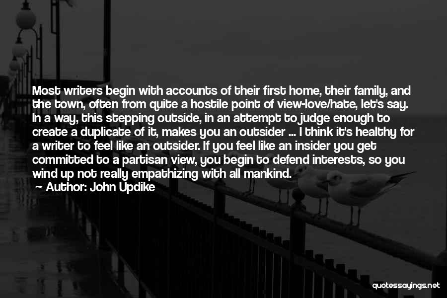 I Feel So In Love With You Quotes By John Updike