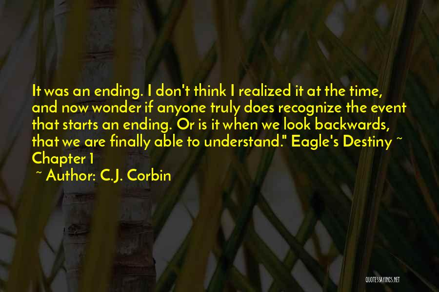 I Finally Realized Quotes By C.J. Corbin
