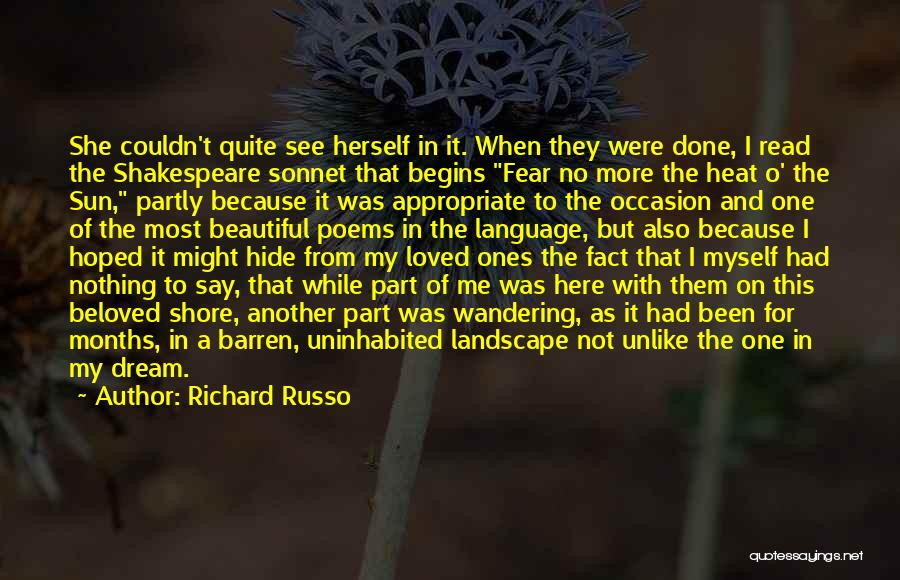 I Finally Realized Quotes By Richard Russo