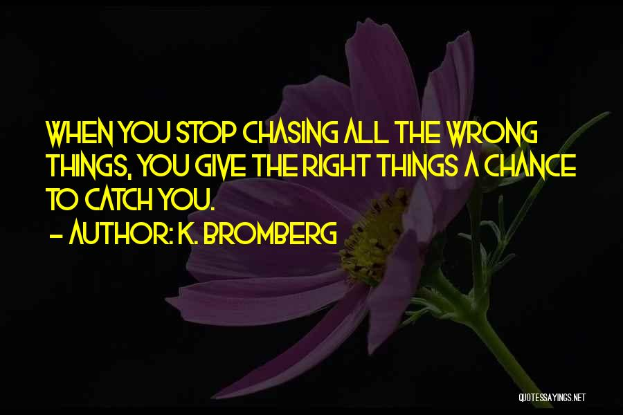 I Give Up Chasing You Quotes By K. Bromberg