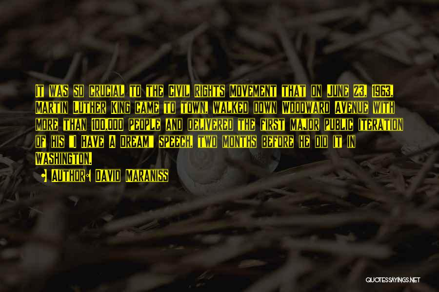 I Had A Dream Speech Quotes By David Maraniss