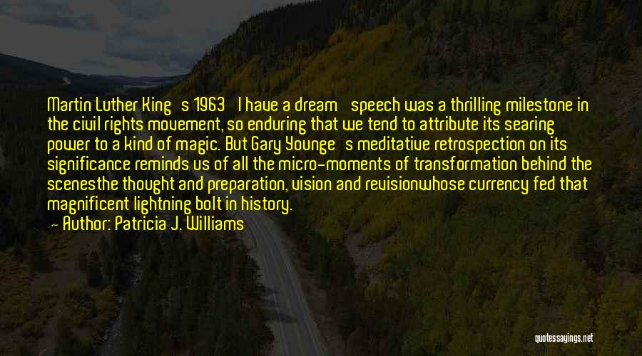 I Had A Dream Speech Quotes By Patricia J. Williams