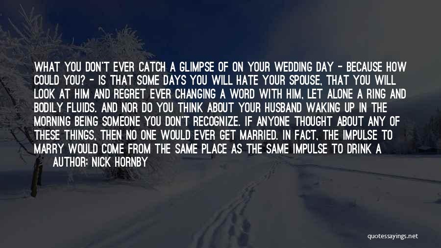 I Hate Being Married Quotes By Nick Hornby
