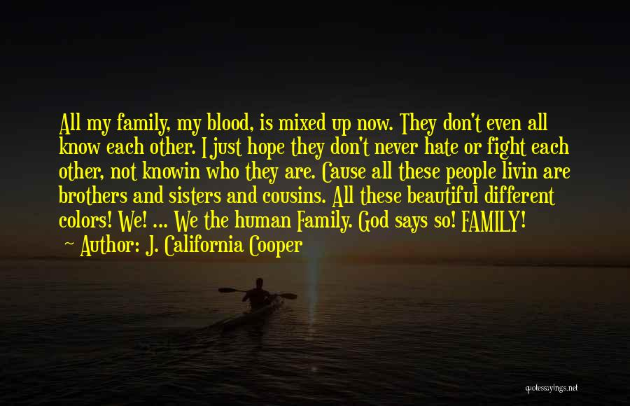 I Hate This Family Quotes By J. California Cooper