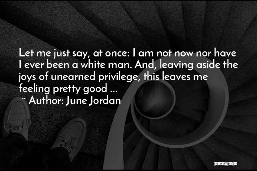 I Have A Good Feeling Quotes By June Jordan