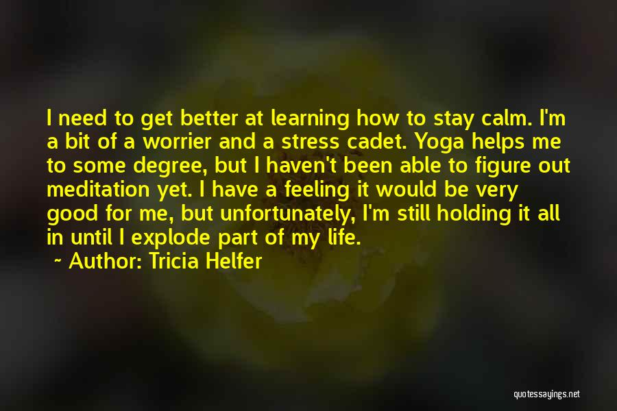 I Have A Good Feeling Quotes By Tricia Helfer