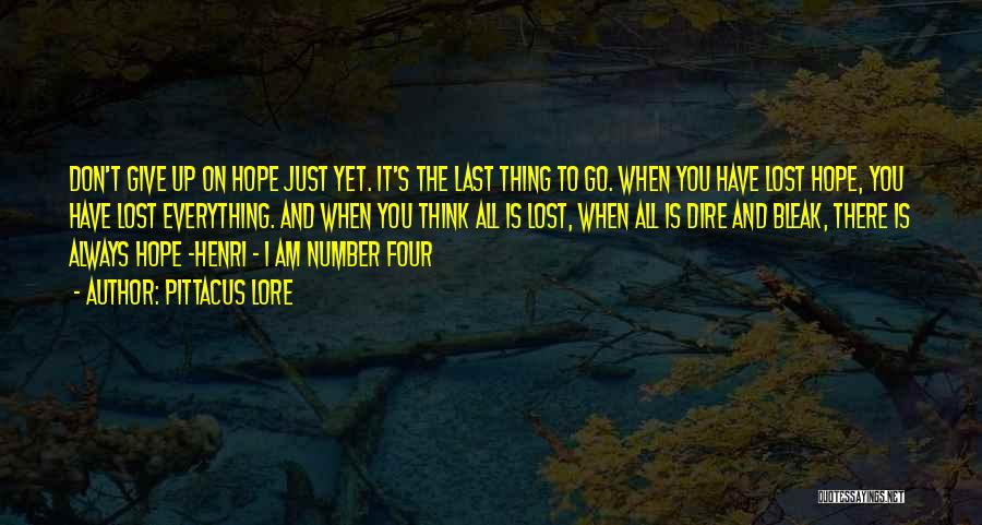 I Have Lost Everything Quotes By Pittacus Lore