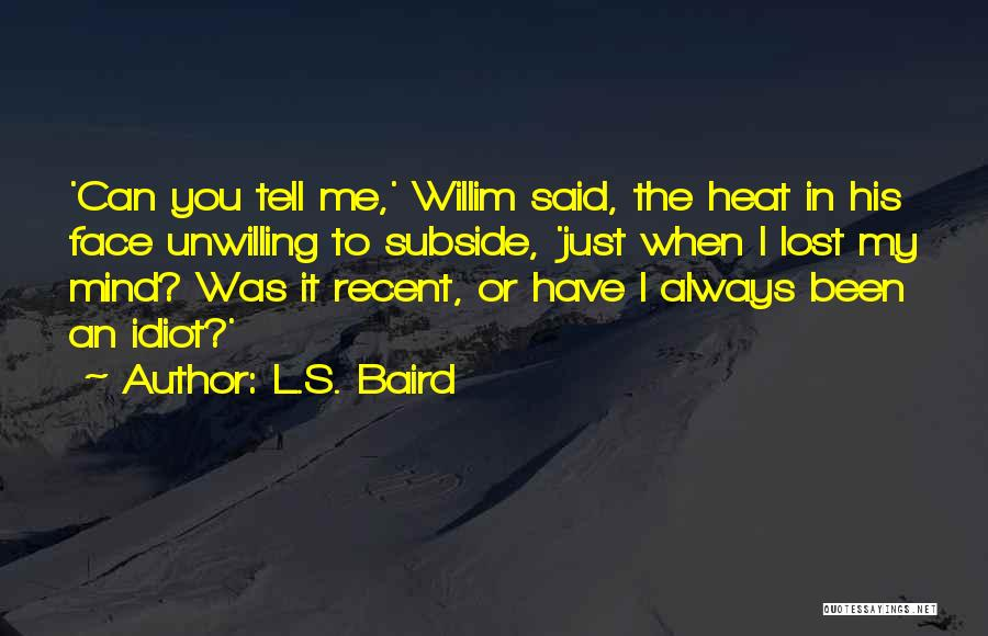 I Have Lost My Mind Quotes By L.S. Baird
