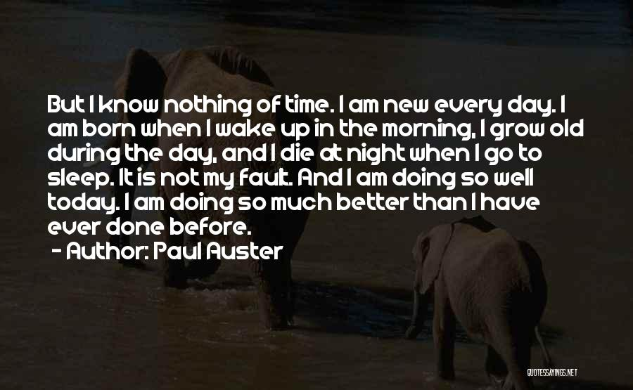 I Have Nothing But Time Quotes By Paul Auster