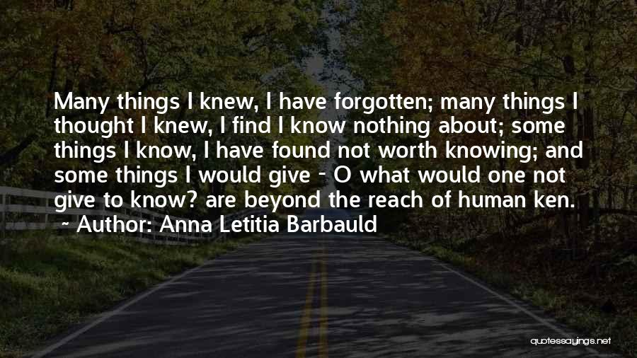 I Have Nothing To Give Quotes By Anna Letitia Barbauld