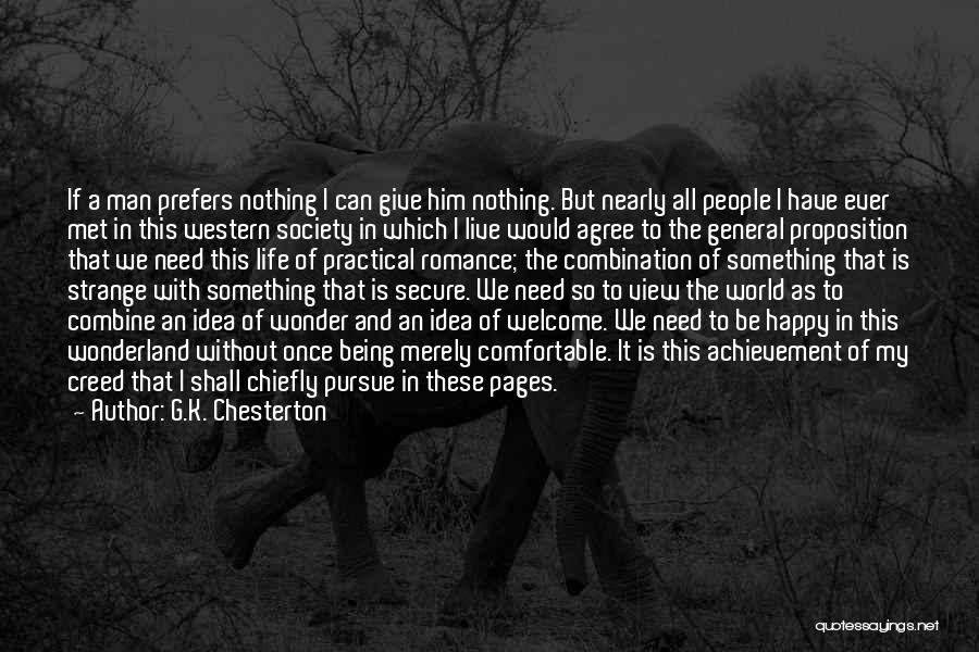 I Have Nothing To Give Quotes By G.K. Chesterton