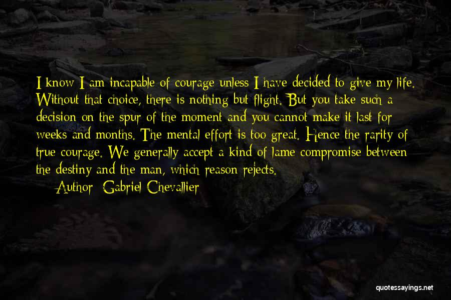 I Have Nothing To Give Quotes By Gabriel Chevallier