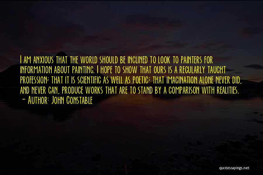 I Hope For Quotes By John Constable