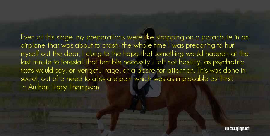 I Hope For Quotes By Tracy Thompson