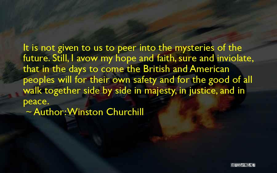 I Hope For Quotes By Winston Churchill