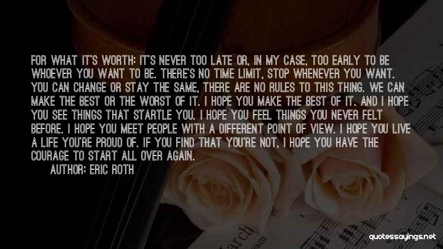 I Hope I Never See You Again Quotes By Eric Roth