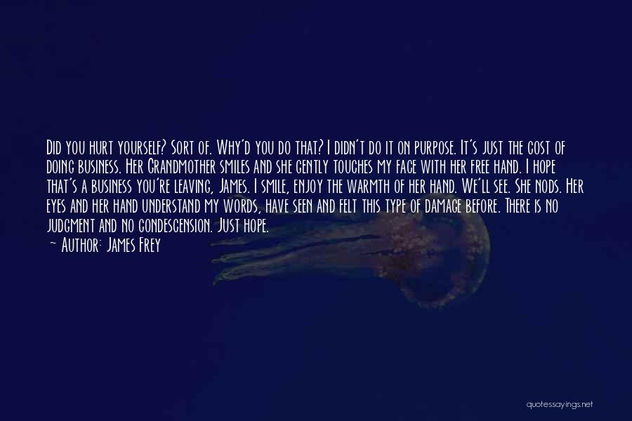 I Hope You Get Hurt Quotes By James Frey