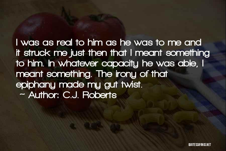 I Just Had An Epiphany Quotes By C.J. Roberts