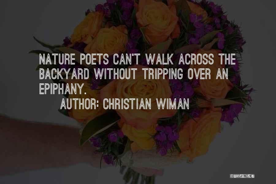 I Just Had An Epiphany Quotes By Christian Wiman