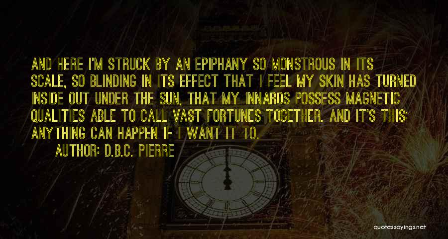 I Just Had An Epiphany Quotes By D.B.C. Pierre