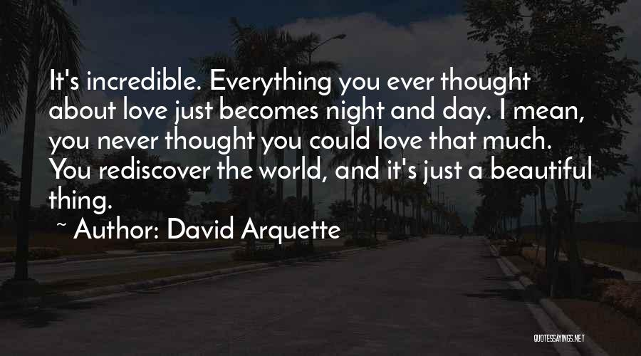 I Just Love Everything About You Quotes By David Arquette
