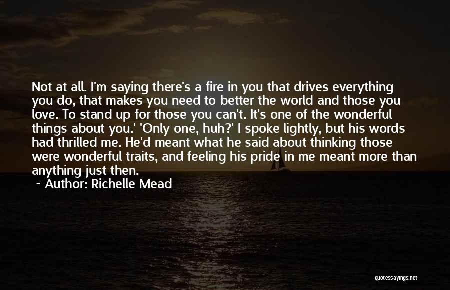 I Just Love Everything About You Quotes By Richelle Mead