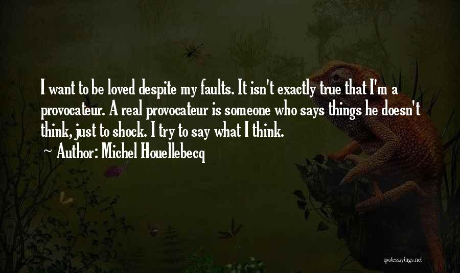 I Just Want Someone To Quotes By Michel Houellebecq