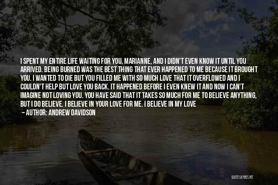 I Knew You Didn't Love Me Quotes By Andrew Davidson