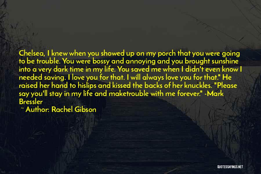 I Knew You Didn't Love Me Quotes By Rachel Gibson