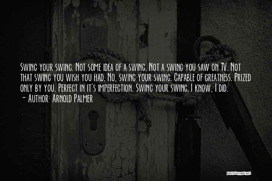 I Know I Am Not Perfect For You Quotes By Arnold Palmer