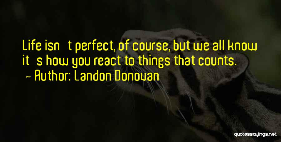 I Know I Am Not Perfect For You Quotes By Landon Donovan