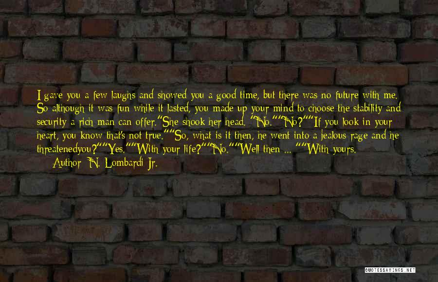 I Know I Get Jealous Quotes By N. Lombardi Jr.