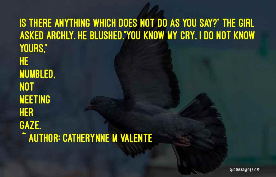 I Know I'm Not Yours Quotes By Catherynne M Valente
