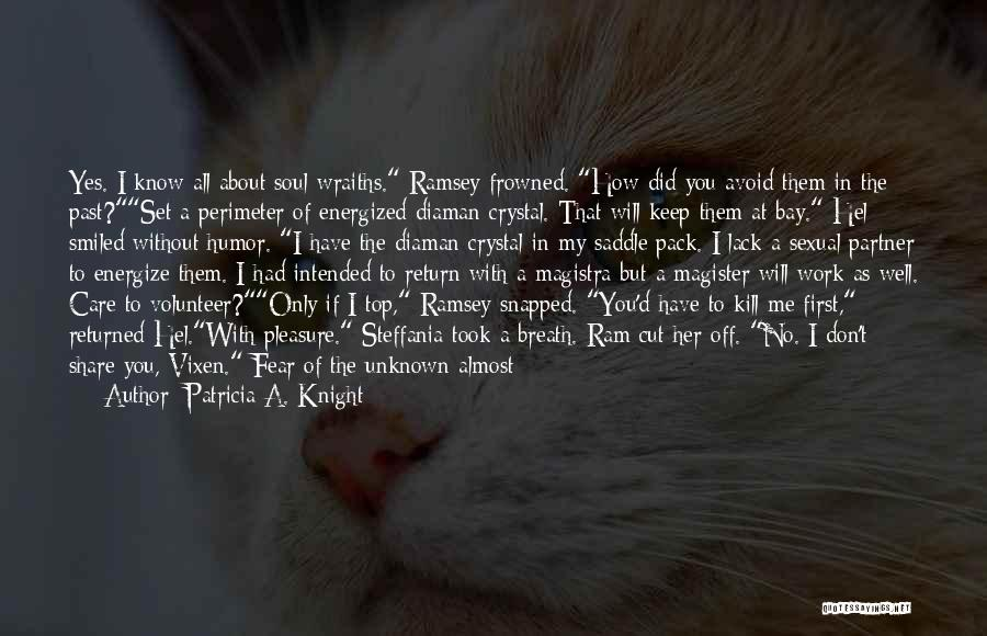 I Know You Don't Care About Me Quotes By Patricia A. Knight
