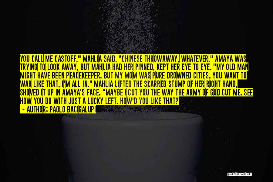 I Look Up To My Mom Quotes By Paolo Bacigalupi
