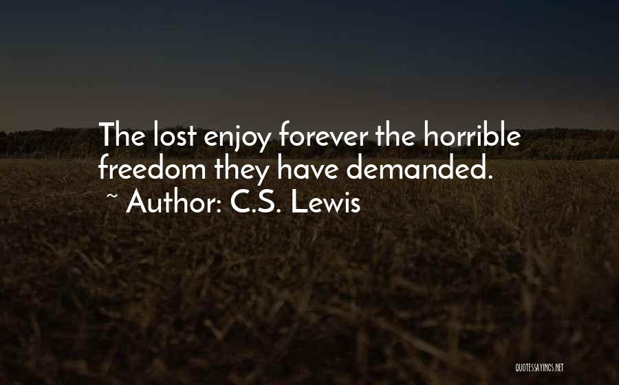 I Lost Him Forever Quotes By C.S. Lewis